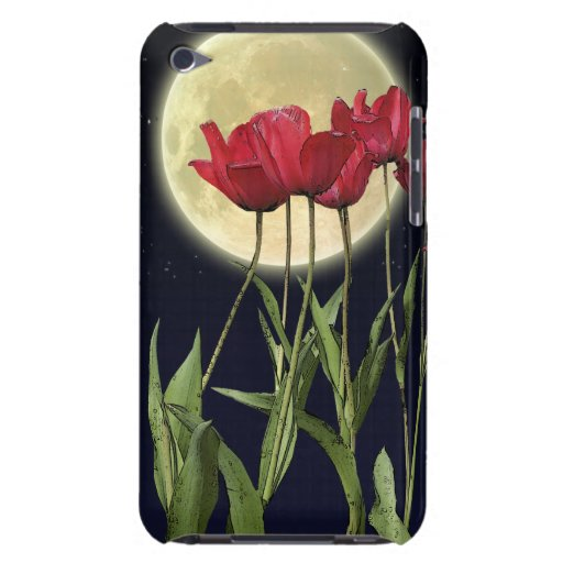 Red Tulips & Moon Arty iPod Touch Case