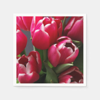 Red Tulips Paper Napkins