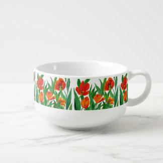 Red Tulips Soup Mug