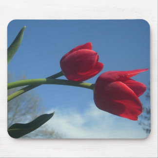 Red Tulips spring Mousepad