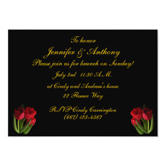 Red Tulips Wedding Brunch Card