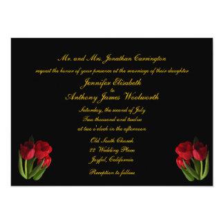 Red Tulips Wedding Card