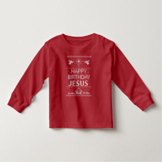Red Ugly Christmas Sweater Happy Birthday Jesus