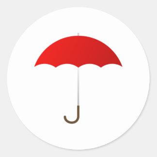 Red Umbrella Classic Round Sticker