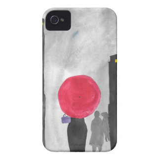 Red Umbrella iPhone 4 Case-Mate Case