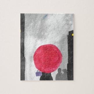 Red Umbrella Jigsaw Puzzle