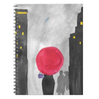 Red Umbrella Notebook