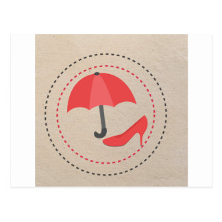 RED UMBRELLA POSTCARD