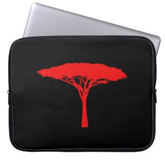 Red Umbrella Tree Laptop Sleeve