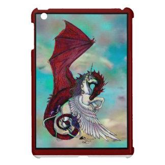 Red Unicorn Horse Pony Dragon Reptile Monster iPad Mini Cover