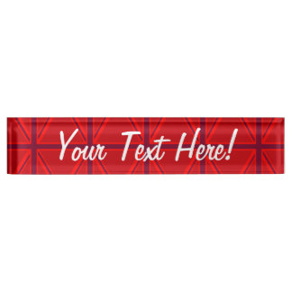 Red Union Jack Name Plate