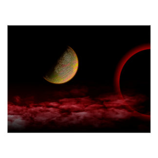 Red Universe Poster