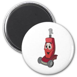 Red Vacuum Cleaner 6 Cm Round Magnet