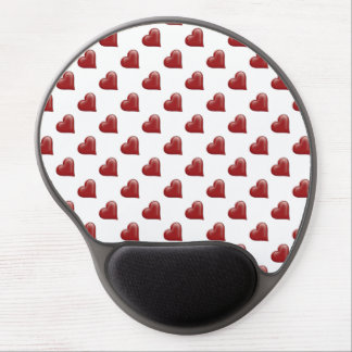 Red Valentine Heart Shape on White Background Gel Mousepads