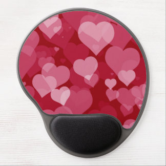 Red Valentine Hearts Gel Mousepad
