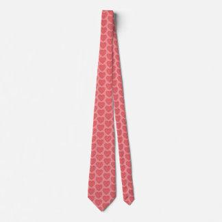 Red Valentine's Hearts Tie