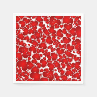 Red Valentine Sweetheart Valentine's Day Party Paper Napkins
