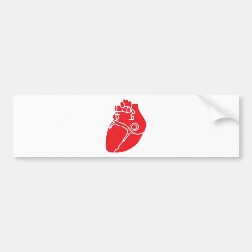 Red Valentine's Day Heart Bumper Sticker