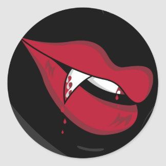 Red Vampire Lips Sticker