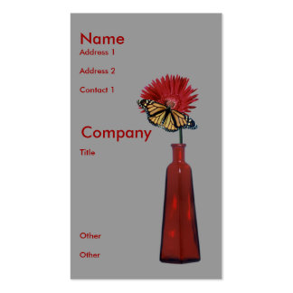 Red Vase,  Flower, and Butterfly Business Card Templates