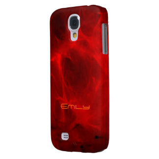 Red Veined Samsung Galaxy s4 case for Emily