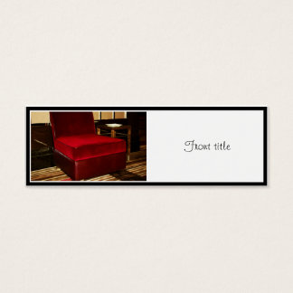 Red Velvet Chair Mini Business Card