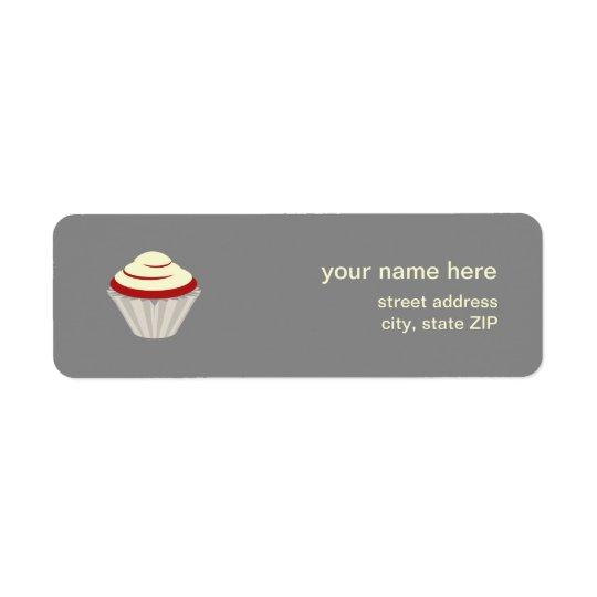 Red Velvet Cupcake Address Label