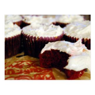 red velvet cupcakes postcard