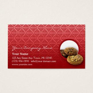 Red Velvet Damask Desserts Business Business Card