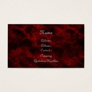 Red Velvet Gothic Business Card