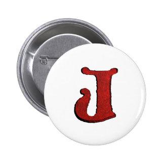 Red Velvet Vampire Font Initial Buttons. 6 Cm Round Badge