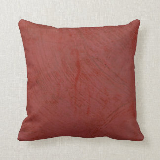 Red Venetian Plaster Throw Pillow