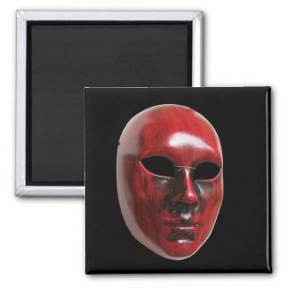Red Venice Mask Square Magnet
