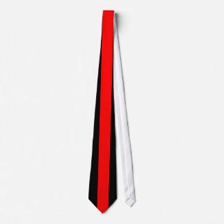 Red Vertical Stripe on Black Tie