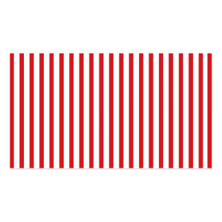Red Vertical Stripes Pack Of Standard Business Cards