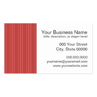 Red Vertical Stripes Pattern Business Card