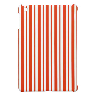 Red Verticall Pinstripe Cover For The iPad Mini