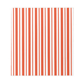Red Verticall Pinstripe Notepad