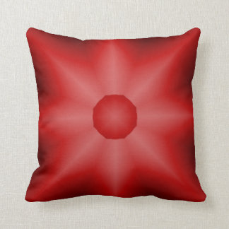 Red Vibrant Star Throw Pillow