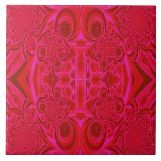 Red Vibrant Tile