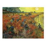 Red Vineyard by van Gogh Vintage Impressionism Art Postcard