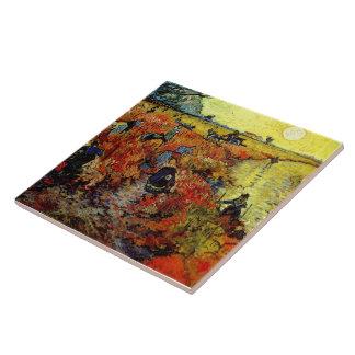 Red Vineyard Van Gogh Fine Art Large Square Tile