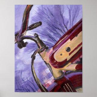 Red Vintage 1940's Bicycle Artist Print