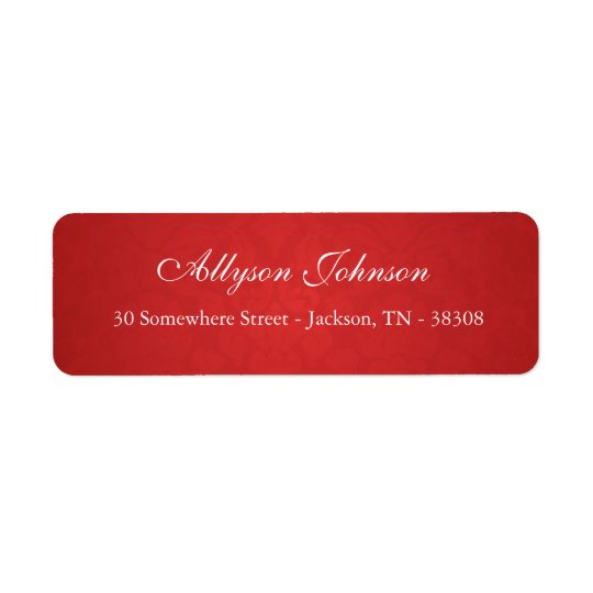 Red Vintage Background Return Address Labels