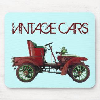RED VINTAGE CAR,CLASSIC AUTOMOTIVE,Teal Blue Mouse Pad