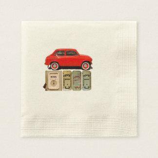 Red Vintage Car Paper Napkins