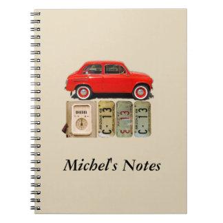 Red Vintage Car Spiral Notebook