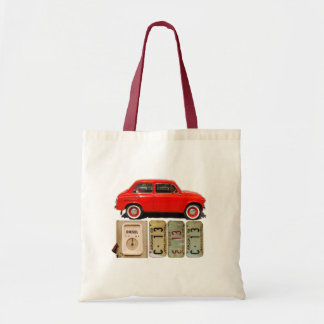 Red Vintage Car Tote Bag