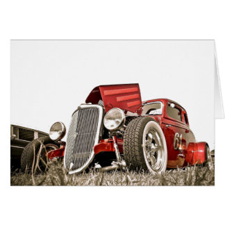 Red Vintage Classic Car Collector Greeting Card