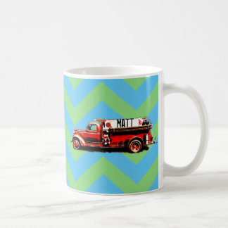 Red Vintage Fire Truck Coffee Mug